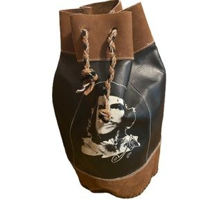 Vintage handmade Che Guevara leather and suede bag
